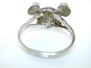 Vintage Mickey Mouse Head Sterling Silver Ring