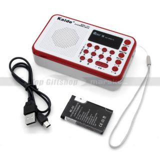 USB Portable FM Radio  WMA Micro TF SD MMC Card Audio Music Player