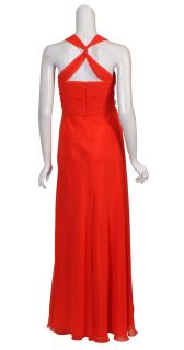Mikael Aghal Gorgeous Ruched Chiffon Gown Dress 4 New