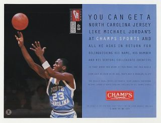 1995 North Carolina Michael Jordan Champs Photo Ad