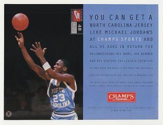 1995 North Carolina Michael Jordan Champs Photo Ad