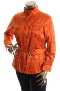 Michael Kors New Orange Water Resistant Belted Jacket Plus 1x BHFO
