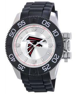 Game Time Watch, Mens Atlanta Falcons Black Polyurethane Strap 47mm