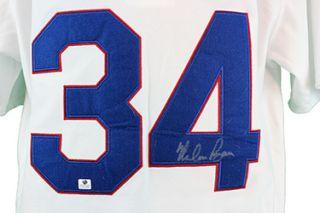 Nolan Ryan Autographed Texas Rangers Throwback Baseball Jersey w GAI