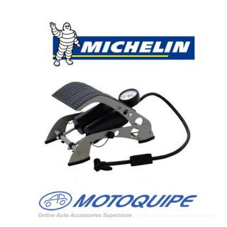 MICHELIN DOUBLE BARREL FOOT PUMP TYRE TIRE SCOOTER BIKE BICYCLE