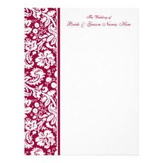 Selec your Color Damask Wedding Guesbook Pages Leerhead Design