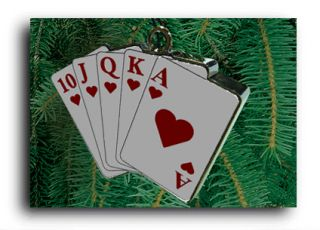 playing cards animated christmas ornament 326 miller engineering s new
