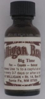 Milligan Brand Big Time Lure Fox Coyote and Coon Trapping Lure 1 Ounce