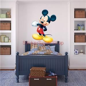 Huge Disney Mickey Mouse Decal Removable Wall Sticker Home Decor Art