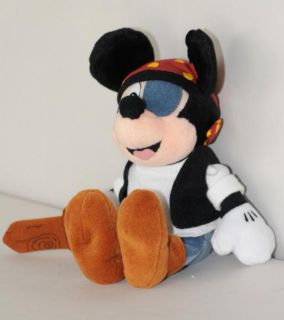 Disney Pirate Mickey Mouse Plush Eye Patch Sword Hat Scarf Stuffed
