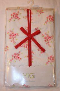 Migi Red Pink White Diaper Stacker 100 Cotton 15x15x8