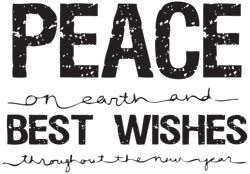 Stamping Bella Stamp Peace on Earth Rubber UM Christmas JR138