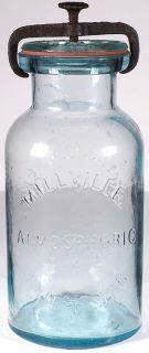 Millville Atmospheric Fruit Jar Quart All Original