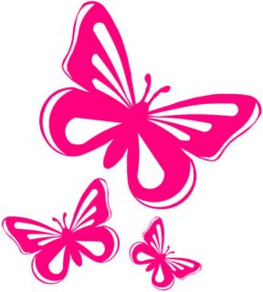 Pink Butterfly Vinyl Stickers Decals Car Window Van