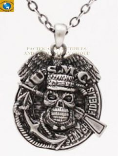 Military USMC Marine Skull Rifle Necklace Jewelry New