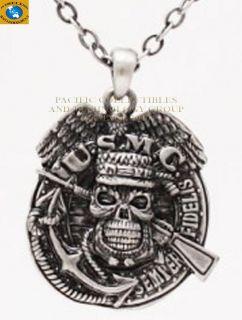 Military USMC Marine Skull Rifle Necklace Jewelry New