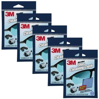 3M Microfiber Cleaning Cloth 5 Pack Lens Electronics Camera