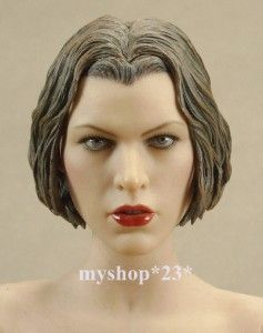 Resident Evil Afterlife Alice Milla Jovovich Head Sculpt Hair