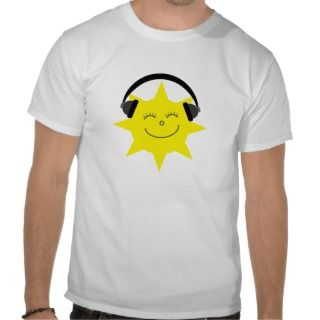 Cartoon sun DJ sports singlet top / T shirt
