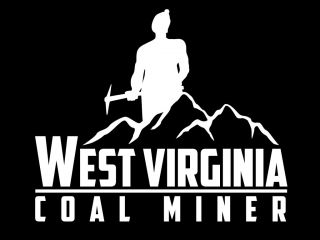 West Virginia Coal Miner Decal Sticker 6