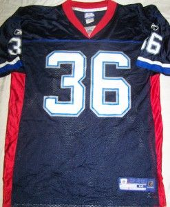 Lawyer Milloy Buffalo Bills Jersey Medium NFL Football Vtg Reebok 36