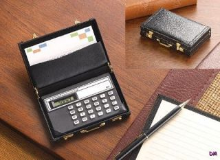 Mini Briefcase Calculator and Business Card Holder