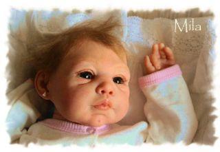 Dream Baby Mila for Reborn Artist Anke Little Dream Baby Micro Rooting