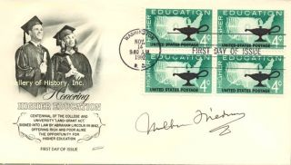 Milton Friedman First Day Cover Signed