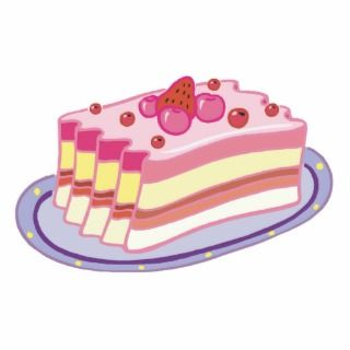 slice or strawberry shortcake photo cutout