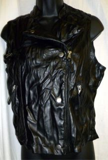 Miley Cyrus Motorcycle Vest Biker Chick Black New with Tags Girls Size