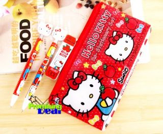 Hello Kitty 4in1 Set Pencil Case Ballpoint Pen Refills
