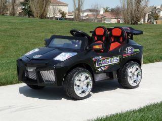 Mini Motos Super Car Black 12 Volt Ride on Remote