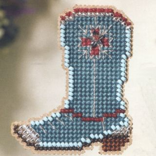 Boot Beaded Cross Stitch Kit Mill Hill 2007 Spring Bouquet