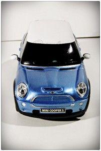 Mini Cooper s Rastar 1 24 Remote Control Car Blue Transmitter Gift Toy