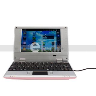 New 7 Mini Laptop Netbook Via 8650 800MHz Android 2 2 2GB 256MB WiFi