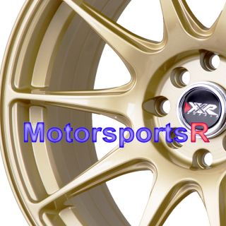 17 XXR 527 Gold Rims Staggered Wheels Concave Nissan 4x4 5 240sx s13