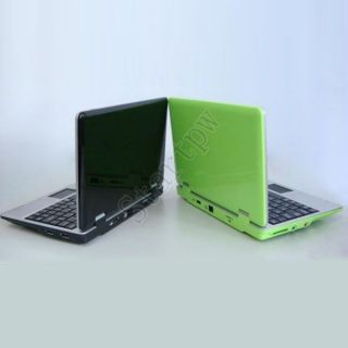 Green Android 4 0 7 Netbook Mini Laptop Notebook WiFi Camera 512M 4GB