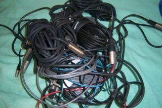 10 XLR Microphone Mic Cables with Some 3 Mini Pin on One Side