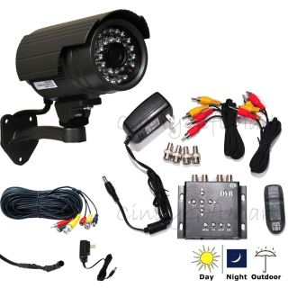 CCTV Mini SD Recorder DVR System IR Day Night Audio Video Security