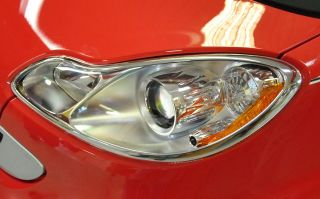 Benz Smart Fortwo Chrome Head Lights Lamps Surround Frame Rims