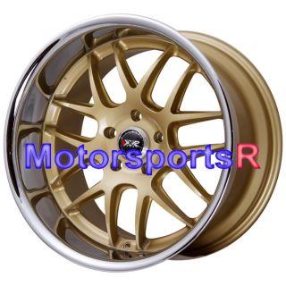 18 XXR 526 Gold Deep Lip Rims Staggered Wheels Stance 95 98 Nissan