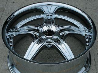 Gino 497 20 Chrome Rims Wheels Nissan Xterra 98 04 20 x 8 5 6H 25