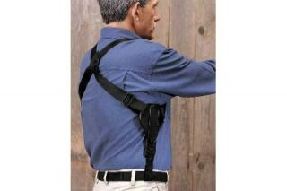 Uncle Mikes Vertical Shoulder Holster Right Hand Black Scoped 14