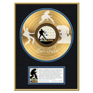 this custom framed 24kt gold plated lp album is of elvis presley s