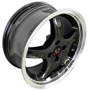17 Black 4 Lug Cobra Wheels Set of 4 Rims Fit Mustang® GT
