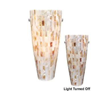 NEW 1 Light Wall Sconce Lighting Fixture, Satin Nickel, Mosaic Shell