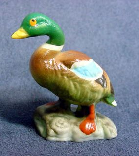 Mallard Duck Lovely Porcelain Bone China Mini Figurine Vintage 1950s