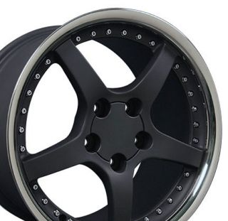 18 9 5 10 5 Black Corvette C5 Style Deep Dish Wheels Rims Fit Camaro