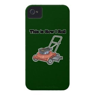 how i roll lawn mower funny design iPhone 4 cover