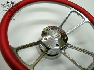 84UP Club Car Golf Cart Billet Steering Wheel Red Flame
